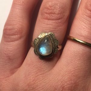 Jewelry - Real Silver and Moonstone Ring